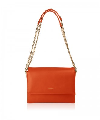 Pomikaki CATERINA shoulder bag Orange 26x19x8 cm
