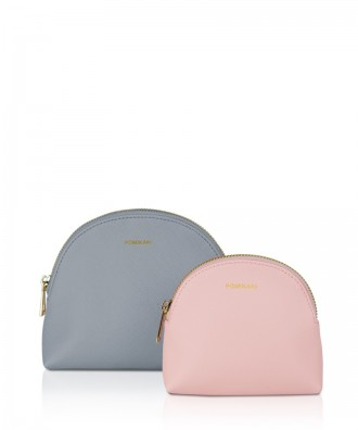 Pomikaki FRIDA trousse Powder Blue/Pink 17x13,5x6,5 cm