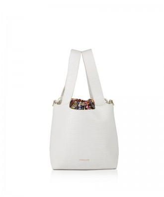 Pomikaki Teresa shopper white