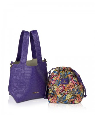 Pomikaki Teresa shopper purple