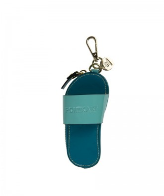 Pomikaki Flip-flop key-chain blue