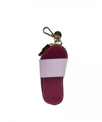 Pomikaki Flip-flop key-chain red wine