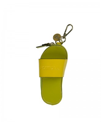 Pomikaki Flip-flop key-chain green