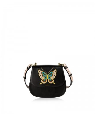 Pomikaki Betta Farfalla crossbody bag black