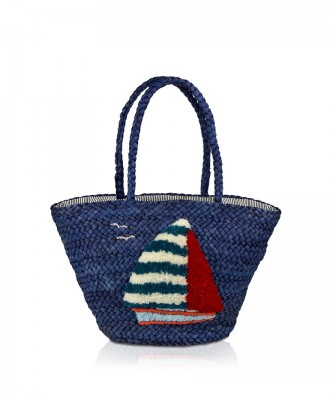 Pomikaki Ischia shopper blue
