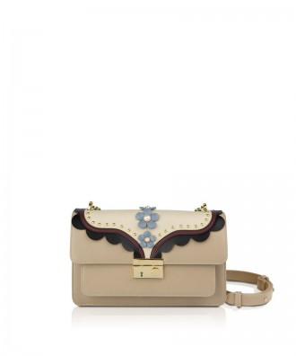 Pomikaki Giulietta Flowers crossbody bag natural
