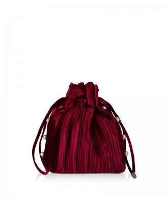Pomikaki clutch Trudy bordeaux