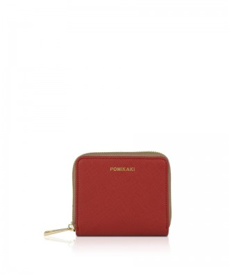 Pomikaki Aida wallet dark red