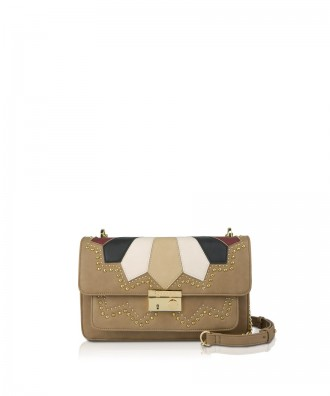 Pomikaki GIULIETTA SUEDE crossbody bag Natural 27,5x16x11 cm