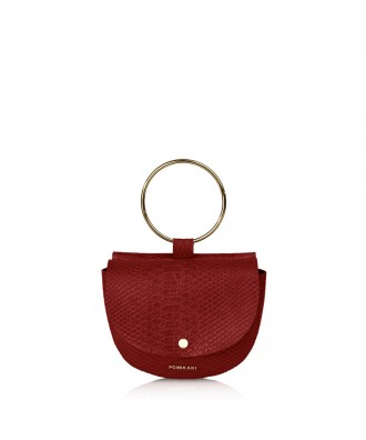 Pomikaki Joia clutch red