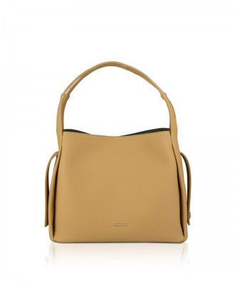 Pomikaki GRACE shoulder bag Camel 32x26x12 cm
