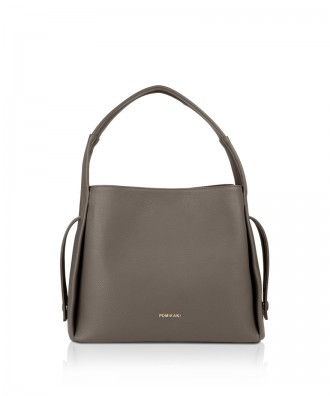 Pomikaki GRACE shoulder bag Grey 32x26x12 cm