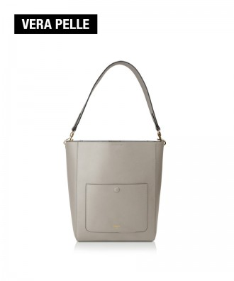 Pomikaki real leather bucket bag Venice ice