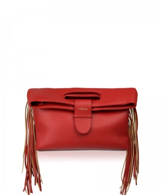 Pomikaki Gipsy clutch red