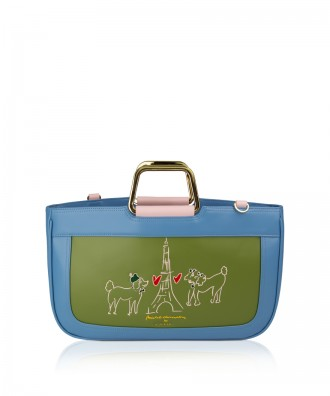 Pomikaki Poodle Big handbag light blue