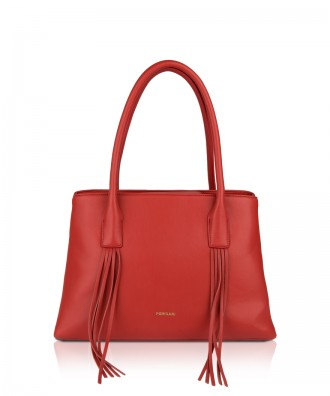 Pomikaki Fiona shopper red