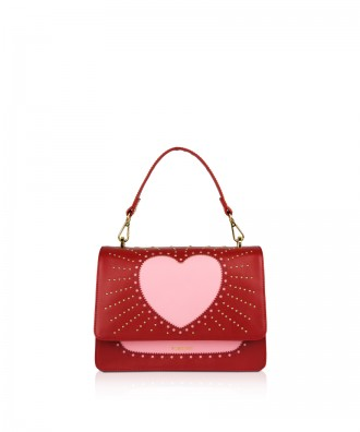 Pomikaki Sandy Heart handbag red