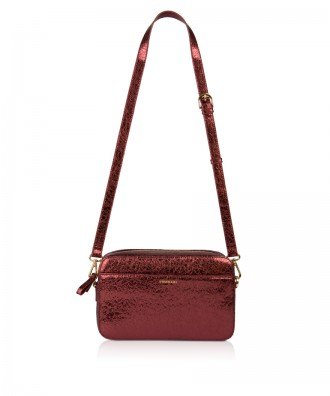 Pomikaki Goldie crossbody bag red
