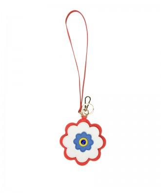 Pomikaki Flower key-chain white