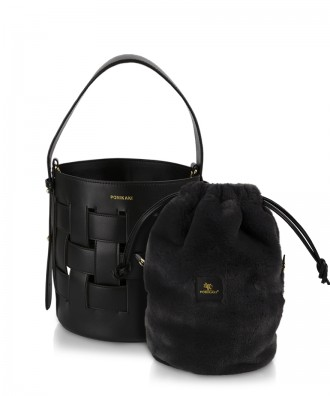 Pomikaki Andrea bucket bag black