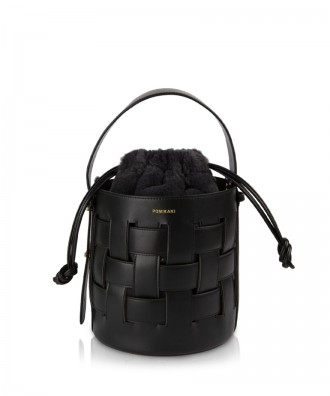 Pomikaki ANDREA bucket bag Black Ø20,5x22 cm