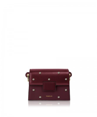 Pomikaki Lolly Pop crossbody bag burgundy