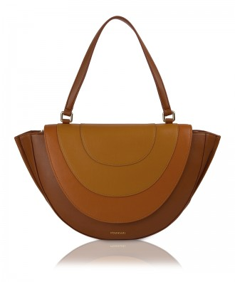 Pomikaki OVALINE shoulder bag Brown 45x25,5x8,5 cm