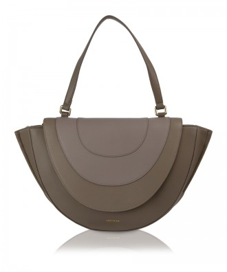 Pomikaki OVALINE shoulder bag Grey 45x25,5x8,5 cm