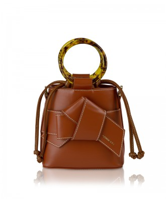 Pomikaki Roxanne handbag brown