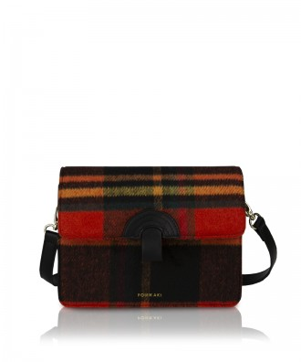 Pomikaki Plaid crossbody bag black/red