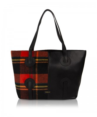 Pomikaki Reby shopper plaid black/red