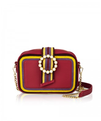 Pomikaki Perla crossbody bag geranium red