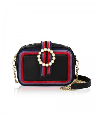 Pomikaki Perla crossbody bag black
