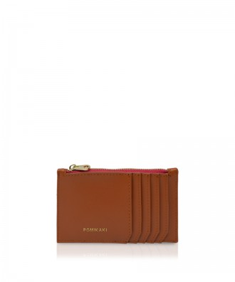 Pomikaki Vera credit cards holder brown