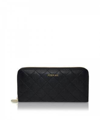 Pomikaki Louise Quilted wallet black