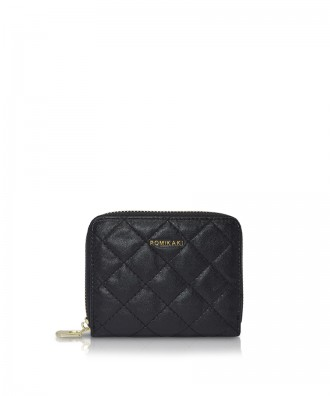Pomikaki Alison Quilted wallet black