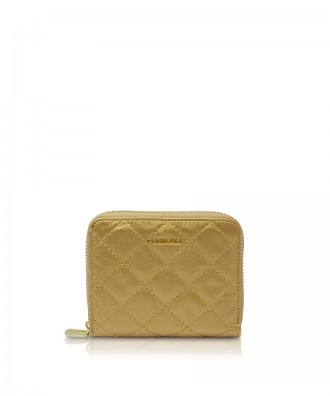 Pomikaki Alison Quilted wallet gold