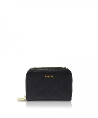 Pomikaki Candy Quilted credit card holder black