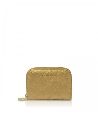Pomikaki Candy Quilted credit cards holder gold
