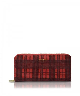 Pomikaki Louise Tartan wallet red