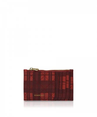 Pomikaki Vera Tartan credit cards holder red