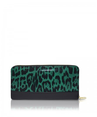 Pomikaki Louise Animalier wallet green