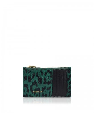 Pomikaki Vera Animalier credit cards holder green/black