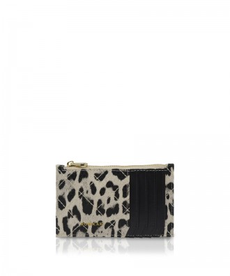 Pomikaki Vera Animalier credit cards holder khaki