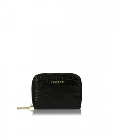 Credit cards holder black croco Candy