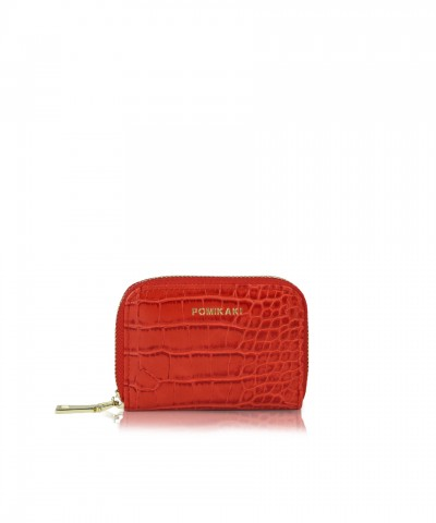 Credit cards holder red croco Candy