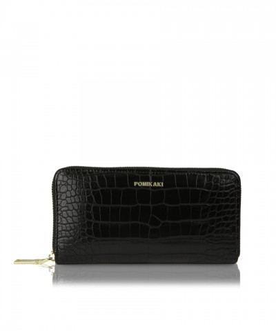Wallet Louise black croco