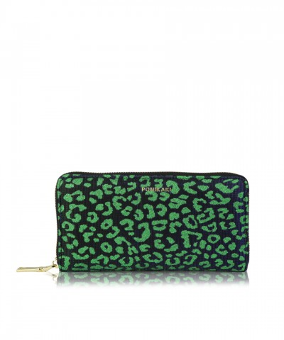 Wallet Louise green leopard