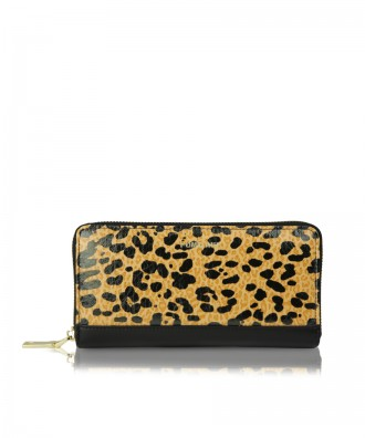 Wallet Louise black and brown leopard
