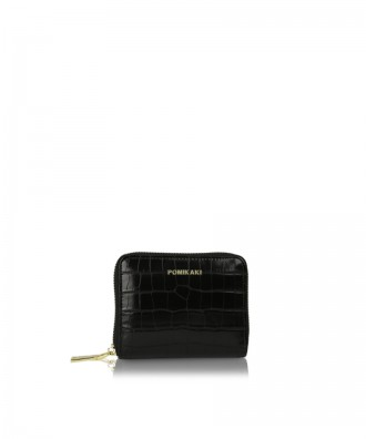 Small wallet black croco Alison